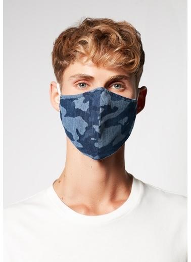 Mavi Erkek  Baskılı Maske 092415-18790 İndigo